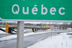 Road to Quebec. Near the highway Royalty Free Stock Photography
