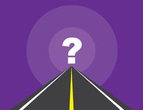 Road To Question Mark Stock Photography