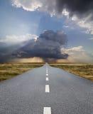 Road to rain Stock Photo