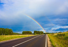 Road to the rainbow Royalty Free Stock Photos