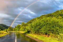 Road to the rainbow Royalty Free Stock Images