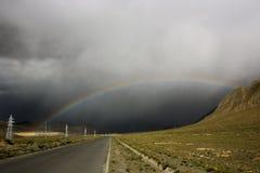 Road to the rainbow Royalty Free Stock Photo