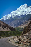 Road to Rakaposhi Royalty Free Stock Images