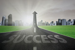 Road to realize success Stock Photography