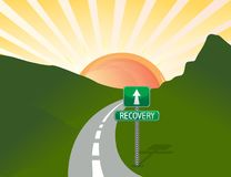 Road to recovery. Landscape illustration Stock Images
