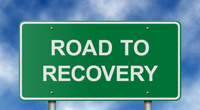 Road to Recovery Sign royalty free stock photos