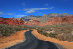 Road to Red rock canyon Stock Photography
