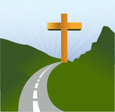 Road to religion concept illustration Royalty Free Stock Photography