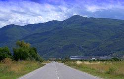 Road to Rhodopes mountains,Bulgaria Royalty Free Stock Images