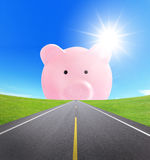 Road to rich, business concept Stock Images