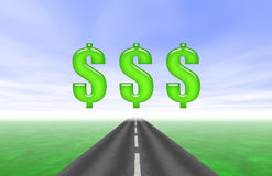 Road to Riches Royalty Free Stock Photography