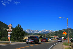 Road to rocky mountain national park Stock Photo