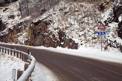 The road to the Rolle Pass Royalty Free Stock Photography