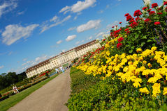 Road to royal palace. Ludwigsburg, South Germany. Road to kings palace.  Ludwigsburg, Baden-Wurttemberg, South Germany Royalty Free Stock Photos