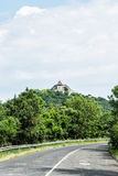 Road to the ruin castle of Visegrad, Hungary Royalty Free Stock Images