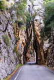 Road to Sa Calobra in Mallorca. royalty free stock photo