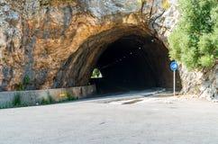Road to Sa Calobra in Serra de Tramuntana - mountains in Mallorc Royalty Free Stock Photos