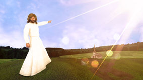 The Road to Salvation Illustration Royalty Free Stock Image