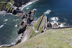 Road to San Juan de Gaztelugatxe Royalty Free Stock Photos