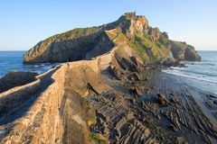 Road to San Juan de Gaztelugatxe Royalty Free Stock Photography