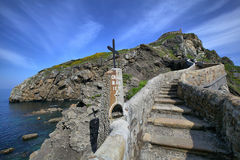 Road to San Juan de Gaztelugatxe. Hermitage, Basque Country, Spain Stock Images