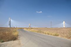 Road To Sanlucar Solar Power Plant Stock Photography