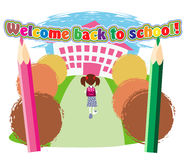 Road to school Royalty Free Stock Photo