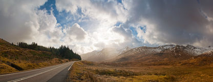 Road to Scottish Highlands Stock Photography
