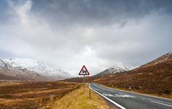 Road to Scottish Highlands Royalty Free Stock Photo