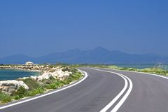 Road to the sea Stock Photo