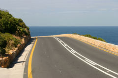 Road to the sea. Road leading to the sea Stock Photography