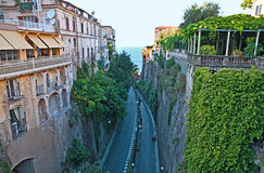 The road to the sea. The road from the city of Sorrento to the port Royalty Free Stock Photos