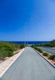 The road to the sea Royalty Free Stock Photo