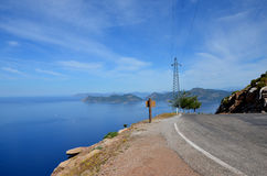 Road to Sea. Extraordinary beauty the road along the sea Royalty Free Stock Photography