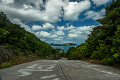 Road to the sea. Koh Phangan, Thailand Stock Photo