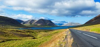 Road to sea lagoon. Iceland Stock Photo