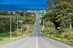 Free Road To Sea Of Okhotsk, Hokkaido, Japan Royalty Free Stock Photo - 97288245