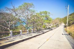 Road to the sea on the Si Chang in Thailand. Toned vintage effect Royalty Free Stock Photography