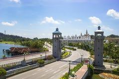 Road to Sentosa Island in Singapore. The Sentosa Island, popular island resort in Singapore Stock Photos