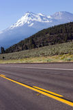 Road to Mt. Shasta Califronia Cascade Mountains Royalty Free Stock Image