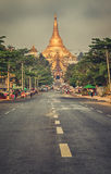Road to Shwedagon pagoda Royalty Free Stock Images
