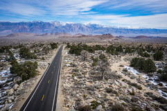 Road to Sierra Nevada Mountains Stock Images