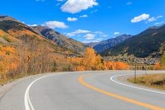 Road to Silverton Colorado in Fall Stock Photo