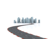 Road to the simulated city Royalty Free Stock Images