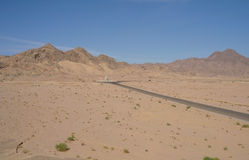 Road to Sinai desert . Royalty Free Stock Images