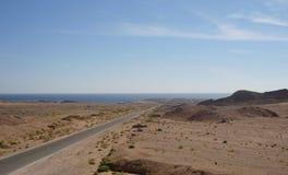 Road to Sinai desert . Stock Photo