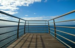 Road to the sky. On madeira seaside Stock Photos