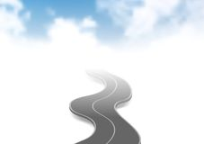 Road to sky abstract background Stock Photography
