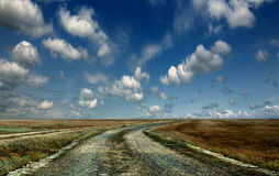 Road to the sky Royalty Free Stock Photography