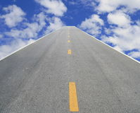 Road to sky Stock Photography